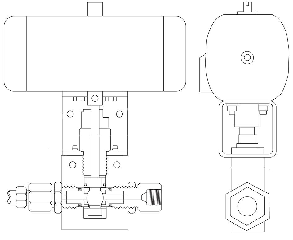 Двухходовой кран с электроприводом