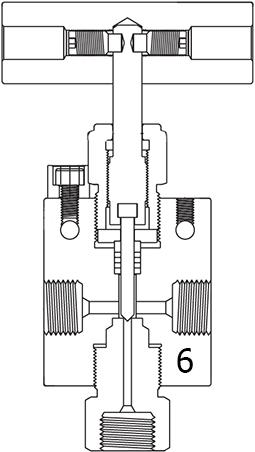 Вентиль трехходовой с заменяемым седлом