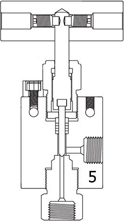 Вентиль угловой с заменяемым седлом